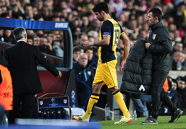 Atletico Madrid lose Diego Costa to injury against Barcelona