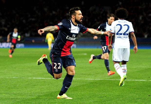 Champions League Team of the quarter-final first legs: Iniesta, Lavezzi and Vidic all feature