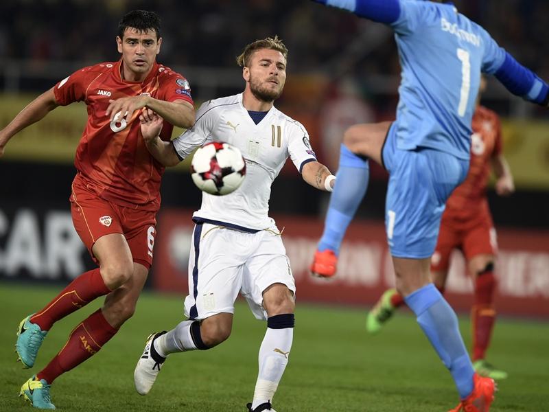 Macedonia-Italia 2-3: Azzurri in extremis a Skopje, Immobile vale tre punti