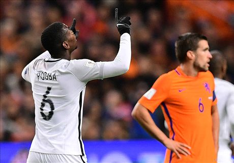 Pogba lifts France to Amsterdam victory