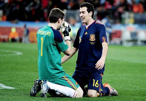 Casillas bereaksi keras terhadap insiden penginjakan Pepe oleh Busquets.
