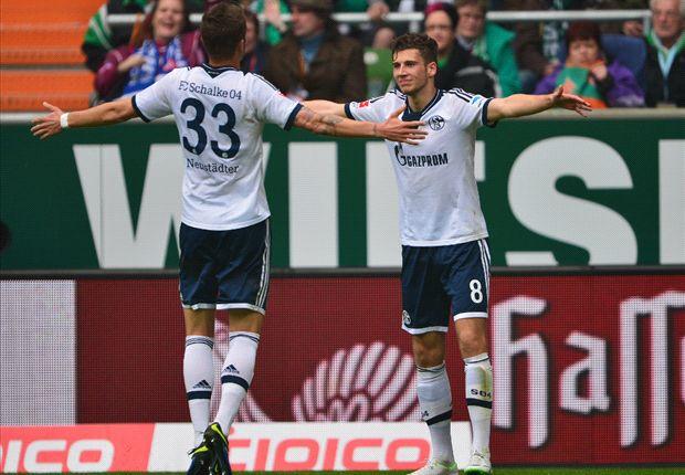 Schalke en Werder delen de punten