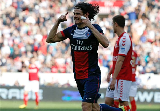 Paris Saint-Germain 3-0 Reims: Cavani on target as Blanc's men close on title