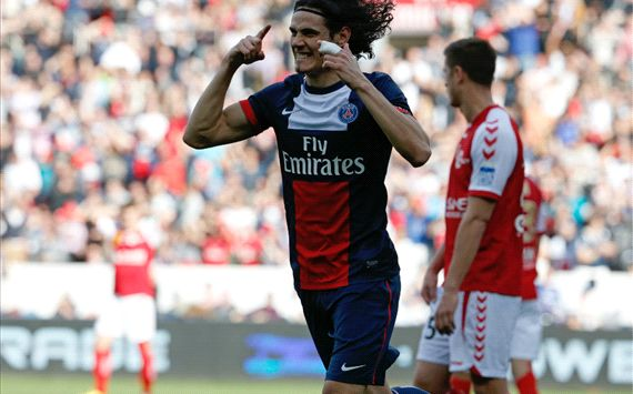 Edinson Cavani Paris SG Reims Ligue 1 04052014