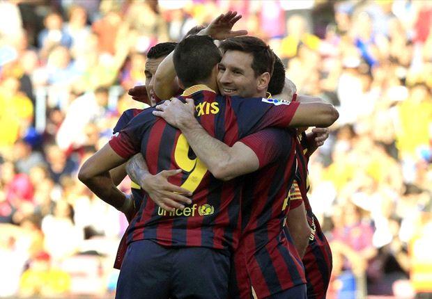 Lionel Messi erzielte beim 3:1-Pflichtsieg gegen Betis Sevilla zwei Tore für den FC Barcelona