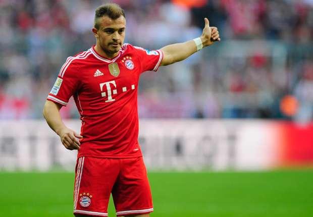 Shaqiri out of Bayern-Manchester United clash