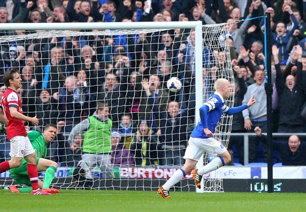 Everton 3-0 Arsenal: A los 'gunners' se les complica la Champions League