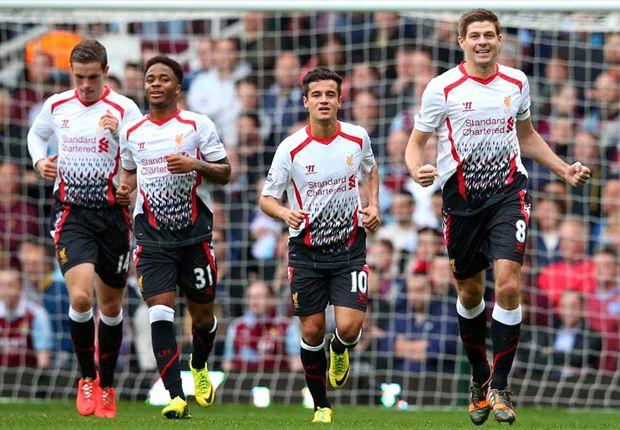 West Ham 1-2 Liverpool: Gerrard spot-on to send Merseysiders top