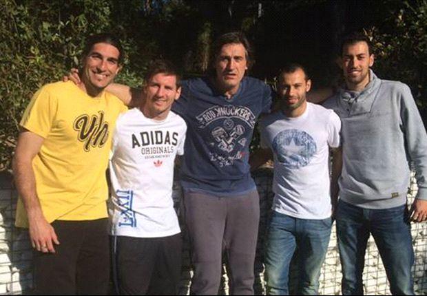 Messi y Pinto son grandes amigos fuera de la cancha.