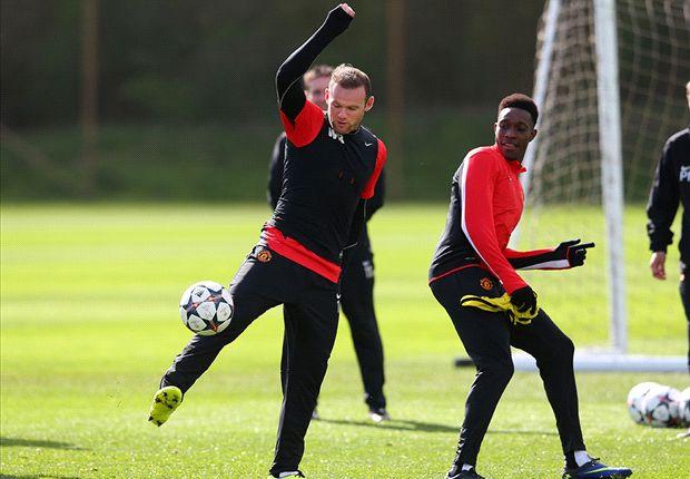 Rooney trains ahead of Bayern Munich clash