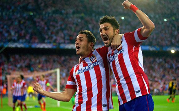 Koke David Villa Atletico Madrid Barcelona Champions League 04092014