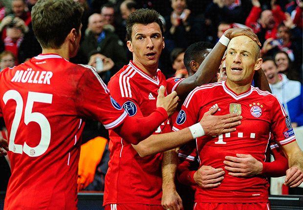 Robben, Müller und Mandzukic bejubeln die Vorentscheidung