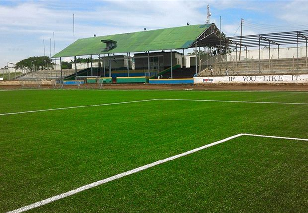 The newly refurbished Moi Stadium in Kisumu.