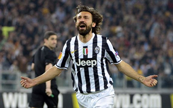 Andrea Pirlo Juventus Lyon Uefa Europa League 04102014