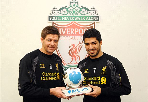 Suarez & Gerrard share Barclays Player of the Month award, Rodgers voted Manager of the Month