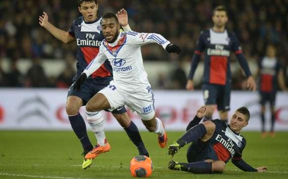 Lyon forward Alexandre Lacazette