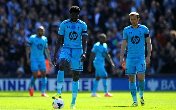 Emmanuel Adebayor West Bromwich Albion Tottenham Hotspur EPL 04122014