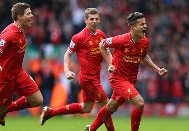 Liverpool 3-2 Manchester City: Coutinho settles dramatic title showdown