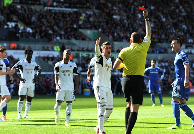 Monk questions Chico red card in Swansea loss