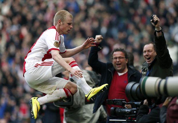 Klaassen bracht Ajax zondag aan de leiding tegen ADO
