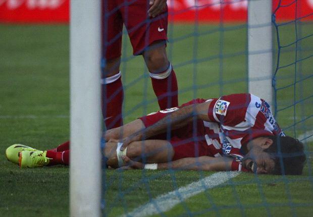 Diego Costa se retira lesionado del Getafe - Atlético de Madrid