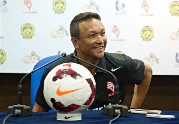 The LionsXII coach is all smiles after their 4-1 win over Pahang FA.