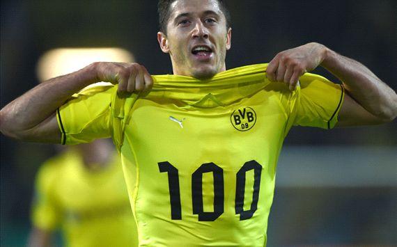 Borussia Dortmund 2-0 Wolfsburg: Lewandowski joins 100-club and fires BVB into DFB Pokal final
