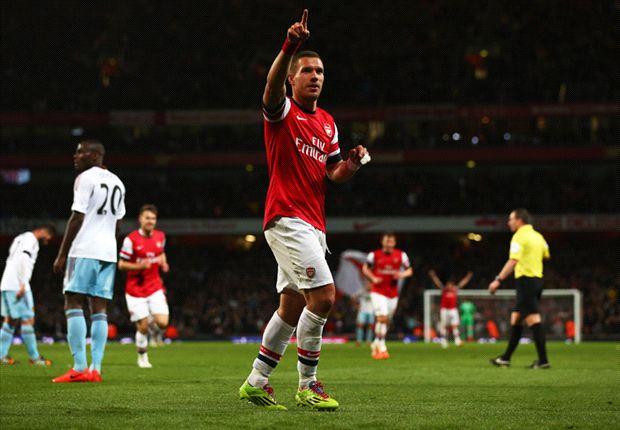 Premier League: Podolski trifft doppelt bei Arsenal-Sieg - Ba wieder Matchwinner für Chelsea