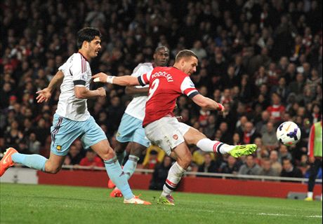 Podolski hits double in Arsenal comeback