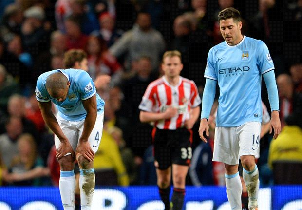 Manchester City drift to 6/1 for the Premier League title after Sunderland stalemate