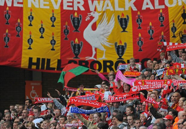 El himno no oficial del Liverpool es coreado en cada ocasión por la grada