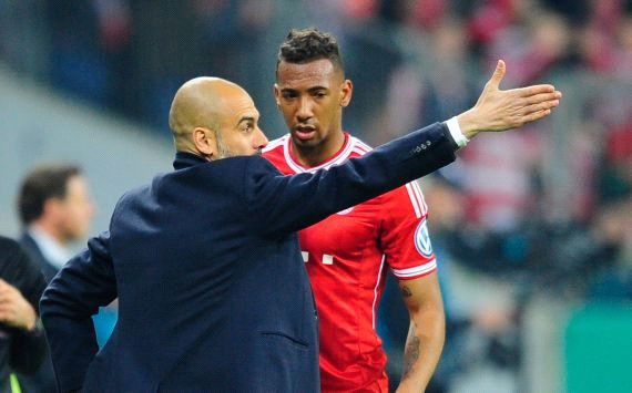 Pep Guardiola & Jermoe Boateng, Bayern München vs 1.FC Kaiserslautern
