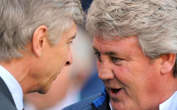 Arsene Wenger and Steve Bruce