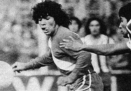 A estreia de Maradona