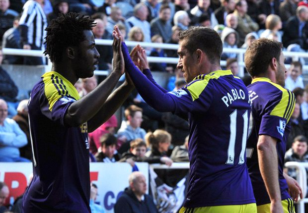 Newcastle 1-2 Swansea: Bony heroics secure huge three points