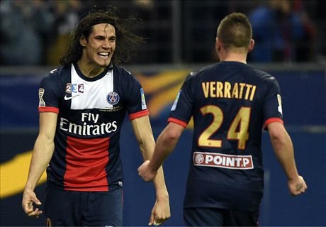 Cavani double secures Coupe de la Ligue