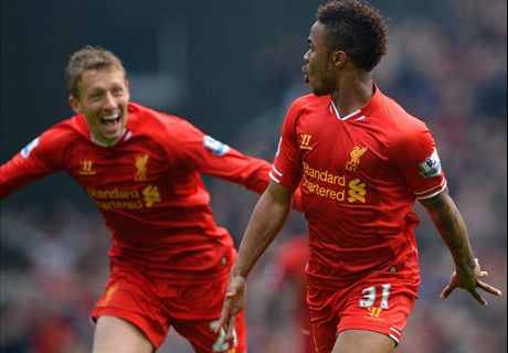 Sterling stars as Liverpool survive scare