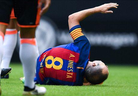 El Barcelona puede ganar sin Iniesta