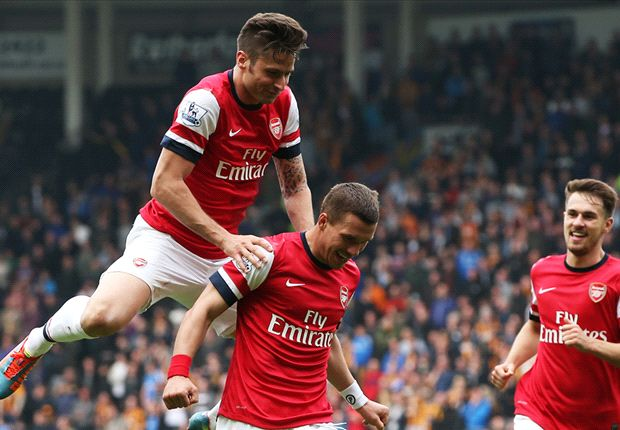 Hull City 0-3 Arsenal: Podolski double tightens Gunners' grip on fourth place