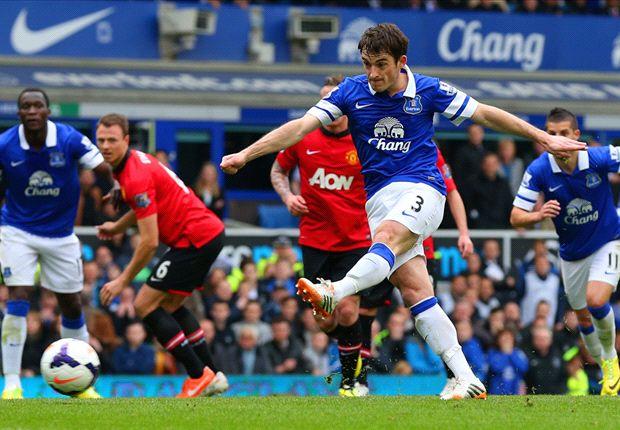 Everton 2-0 Manchester United: Los Toffees siguen en la estela del Arsenal