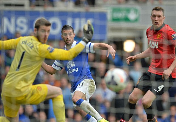 Everton 2-0 Manchester United: Baines & Mirallas ensure miserable Goodison Park return for Moyes