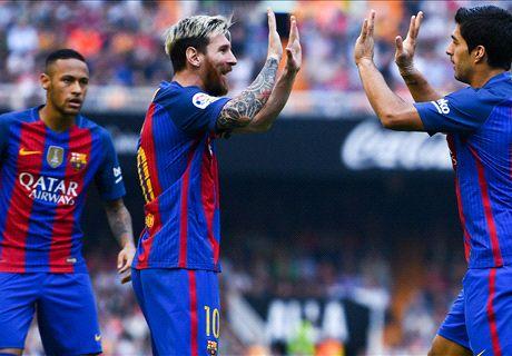 Messi bezorgt Barça zege in slotminuut