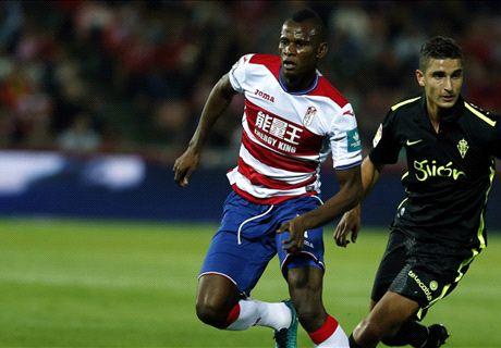 Granada's Agbo sees red vs. Osasuna
