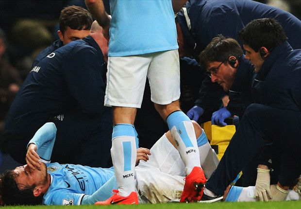 Manchester City 3-1 West Brom: Silva injury sours comfortable night for hosts