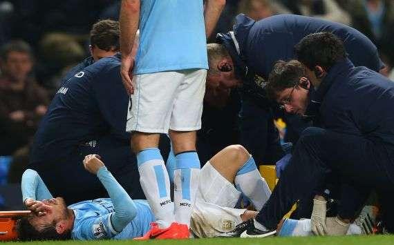 Musste verletzt vom Platz: David Silva