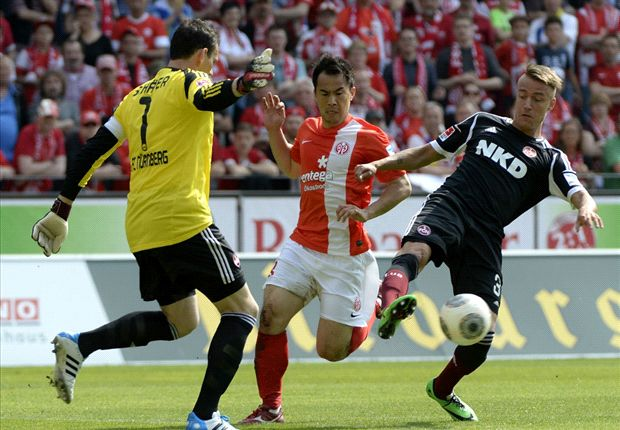 In der 30. Minute brachte Shinji Okazaki den FSV Mainz 05 auf die Siegstraße