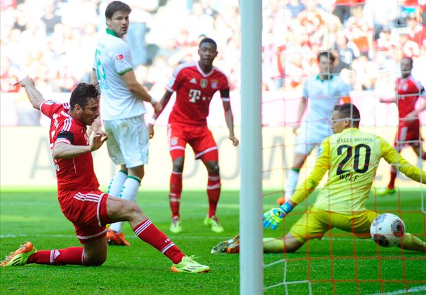 Bayern Munich 5-2 Werder Bremen: Pizarro inspires barnstorming Bavarian comeback