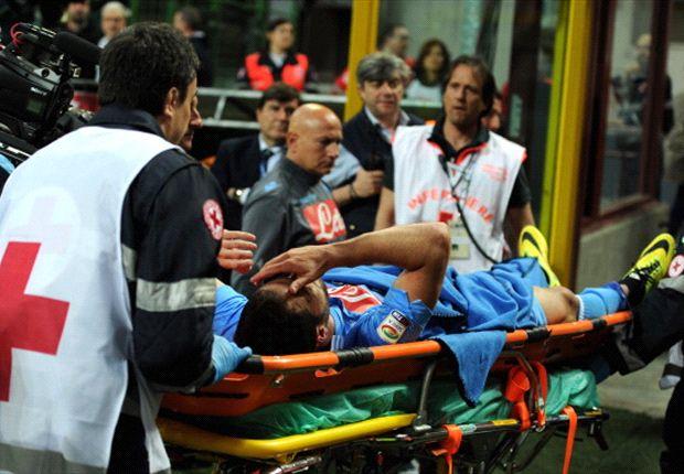 Higuaín salió en camilla y su lesión preocupa hasta que se haga estudios.