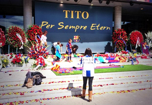 'Tito, forever eternal' - 20,000 fans pay tributes on Camp Nou's saddest day