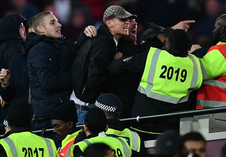 Chelsea and West Ham fans clash